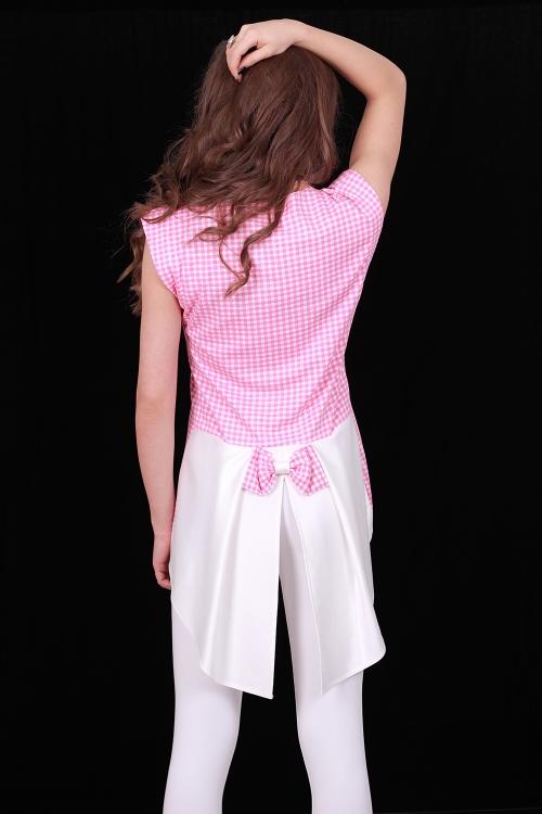 Дамски комплект от туника с фрак и бял клин
