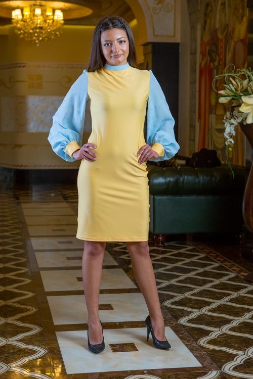 Къса рокля с дълъг ръкав - Different