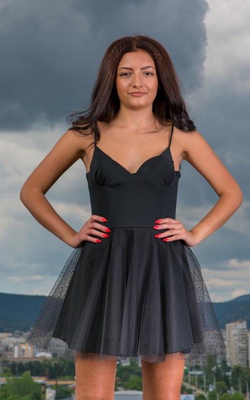 Черна къса официална рокля - Габриел