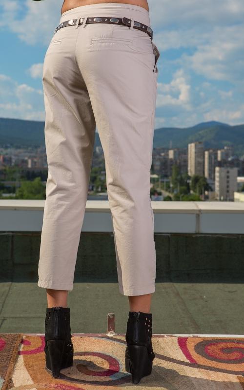 Дамски дълъг бежов  панталон