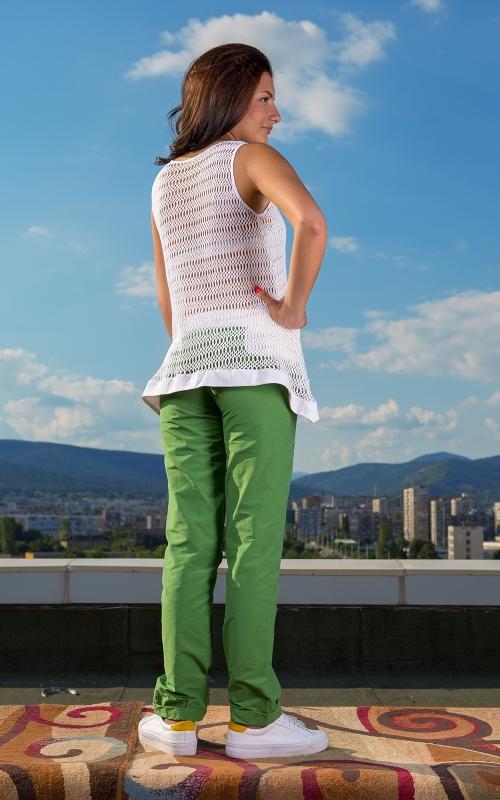 Дамски спортно - елегантен комплект от панталон и туника