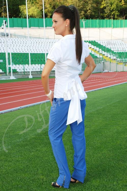 Дамски комплект от дълъг панталон и риза