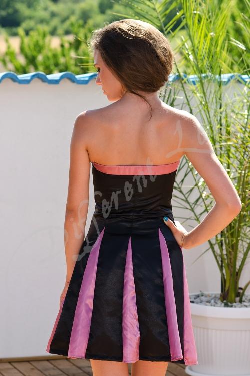 Къса официална рокля в два цвята - Алисия