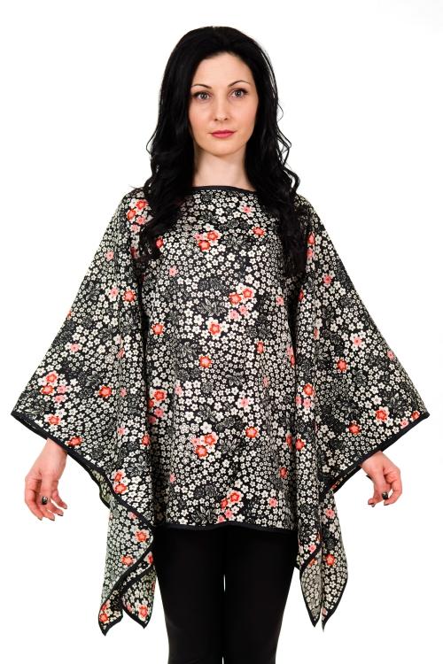Дамска асиметрична туника от коприна