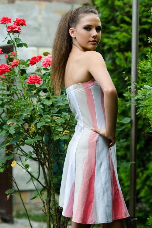 Къса боди рокля от памук - Марчела