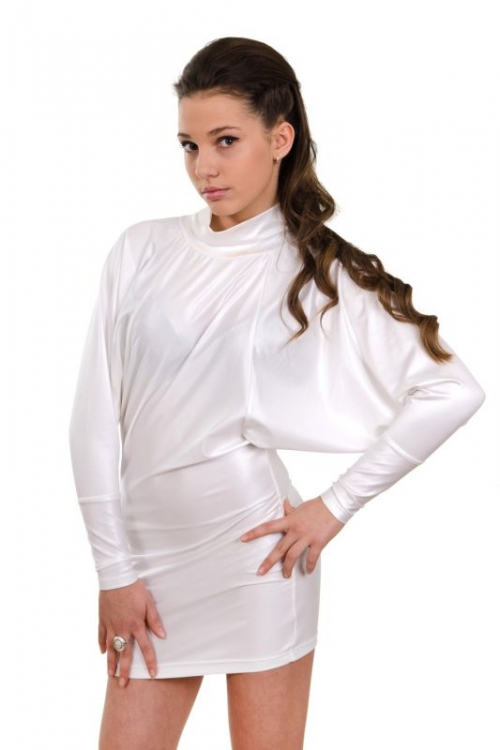 Къса бяла рокля Грета