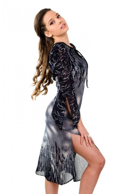Дълга рокля от шифон - Сузи