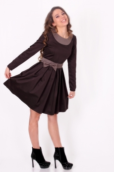 Къса рокля с плисета и пандела - Дани