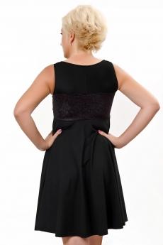 Черна рокля клош с дантела - Майлс
