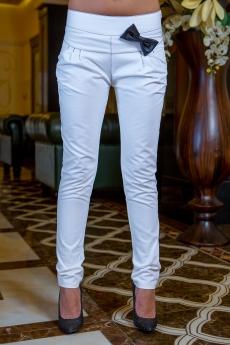 Дамски дълъг панталон с кожена пандела