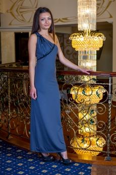 Дълга рокля с едно рамо - Силвена