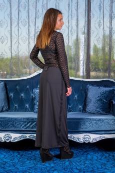 Дълга спортно - елегантна черна пола