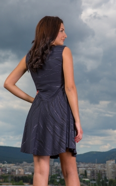 Къса разкроена рокля - Амелия