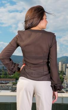 Дамска риза с дълъг ръкав от шифин