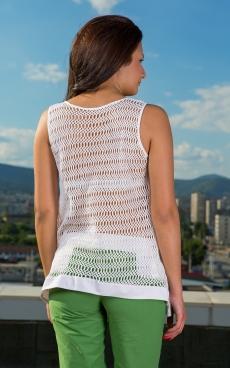 Дамска блуза - туника в бяло