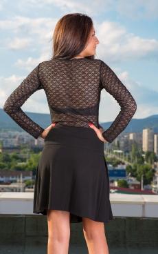Къса пола с плохи в черно