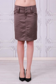 Къса стилна пола с широк колан