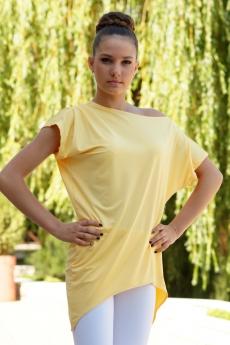 Дамска спортно - елегантна туника в жълто