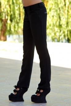 Дамски дълъг черен панталон