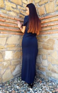 Дълга елегантна рокля с две големи цепки - Симона 2