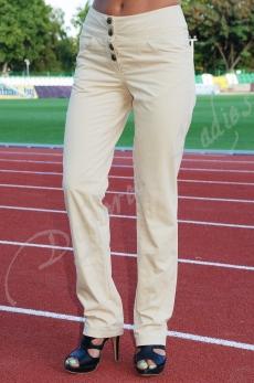 Дамски дълъг панталон в бежово