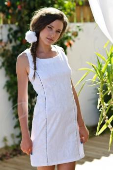 Къса официална рокля в бяло - Емили