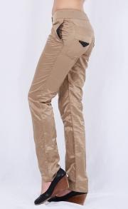 Дамски дълъг панталон в златисто