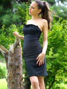 Черна къса боди рокля - Корнелия