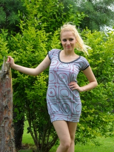 Къса рокля от памук с гол гръб - Кимбърли