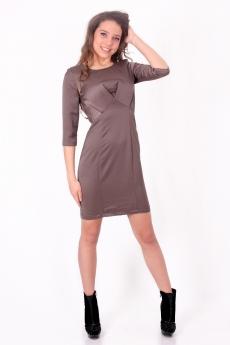 Къса елегантна рокля с чупки на бюста - Моник