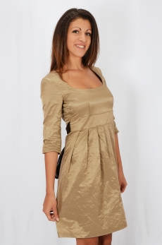 Къса рокля с шал и пояс - Беки