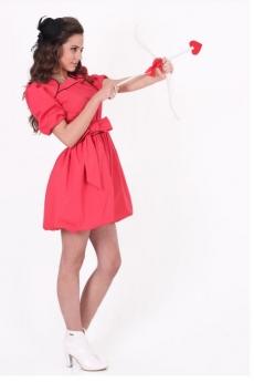 Къса рокля балон Валентина
