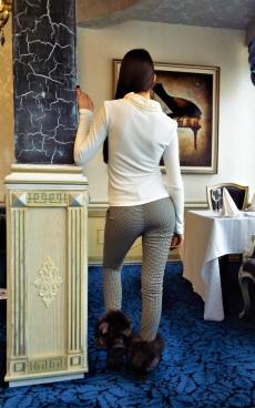 Дамски комплект от панталон и блуза с дълъг ръкав